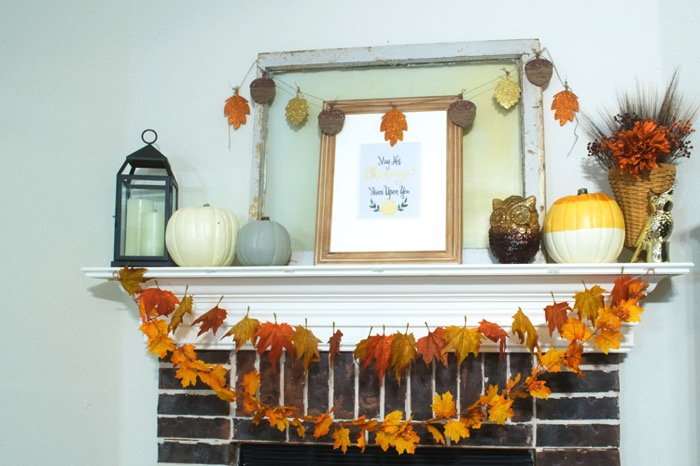 Decor for a Fall Mantel