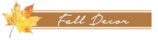 Fall Decor Button