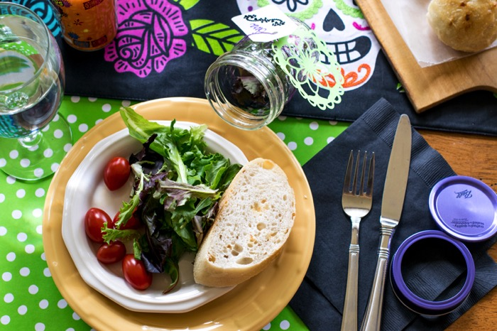 Day of the Dead dinner party salad