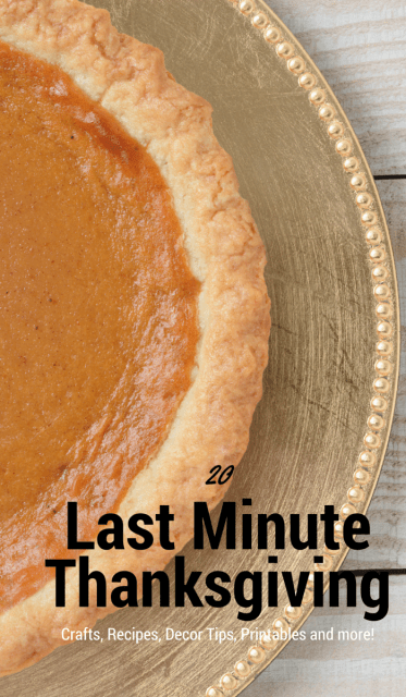 20 Last Minute Thanksgiving Crafts, decor, recipes, and more.
