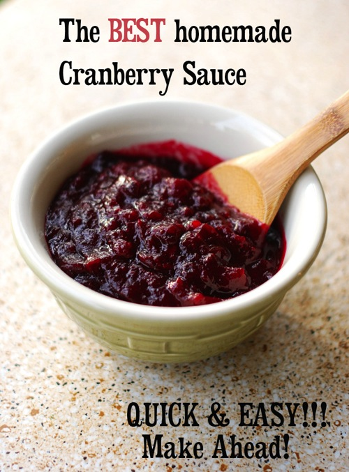 the best cranberry sauce recipe for Thanksgiving. Easy to make ahead of time!