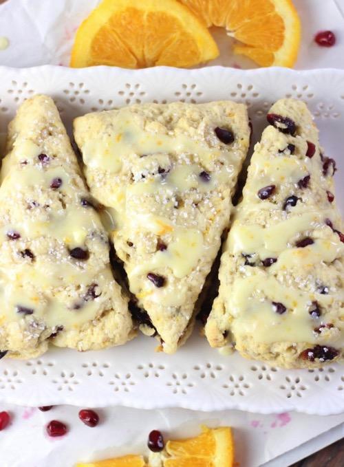 Cranberry orange scones with orange glaze 25 753x1024