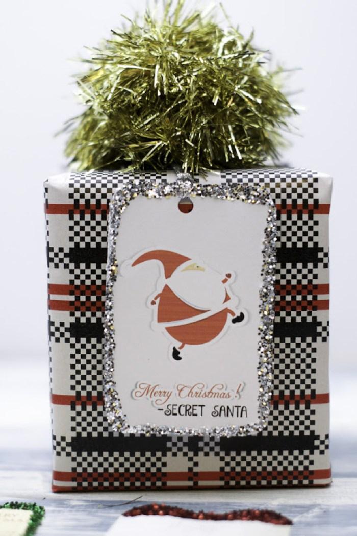 Merry Christmas Secret Santa Gift Tags. Free Printable!