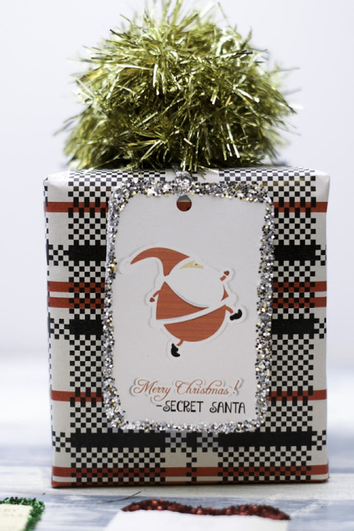Merry Christmas Secret Santa Gift Tags. Free Printable!