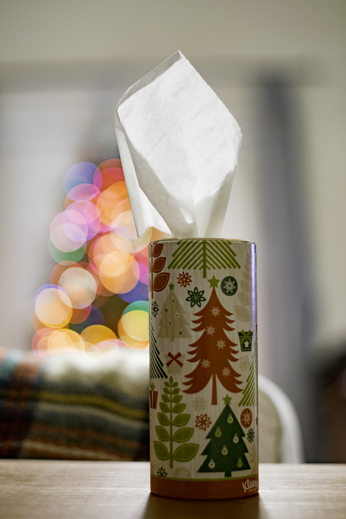 Holiday kleenex boxes