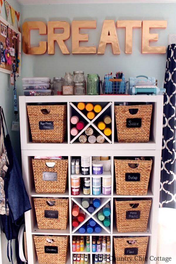 Organized craft room tour