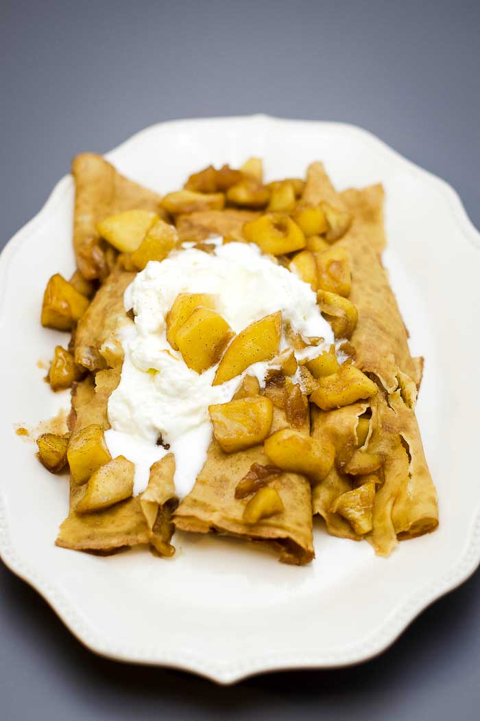 premade crepes make this recipe easy