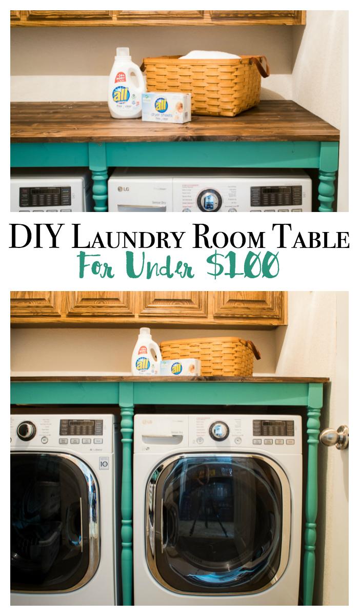 DIY Laundry room table