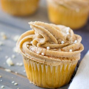 Cinnamon Maple Buttercream frosting.
