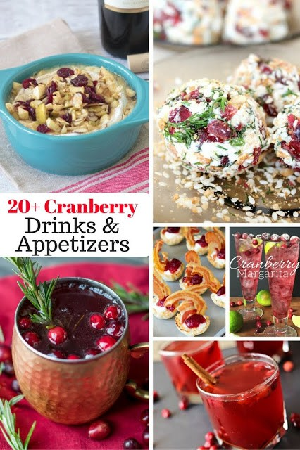 20 cranberry drinks and appetizers