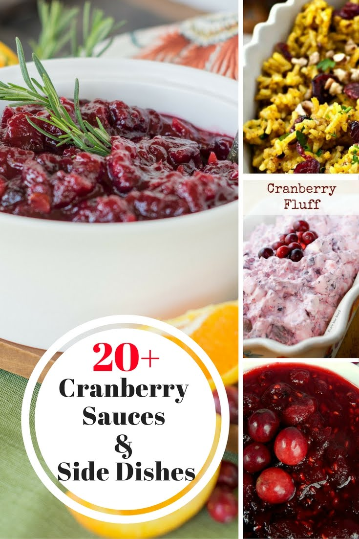 From Sauce to Curry, Side Dishes that feature fabulous cranberries! Can't have Thanksgiving without a cranberry dish!
