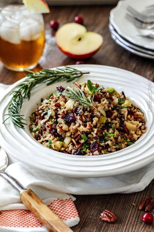 Apple Cranberry Wild Rice Pilaf