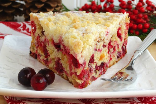 Christmas Cranberry Buckle