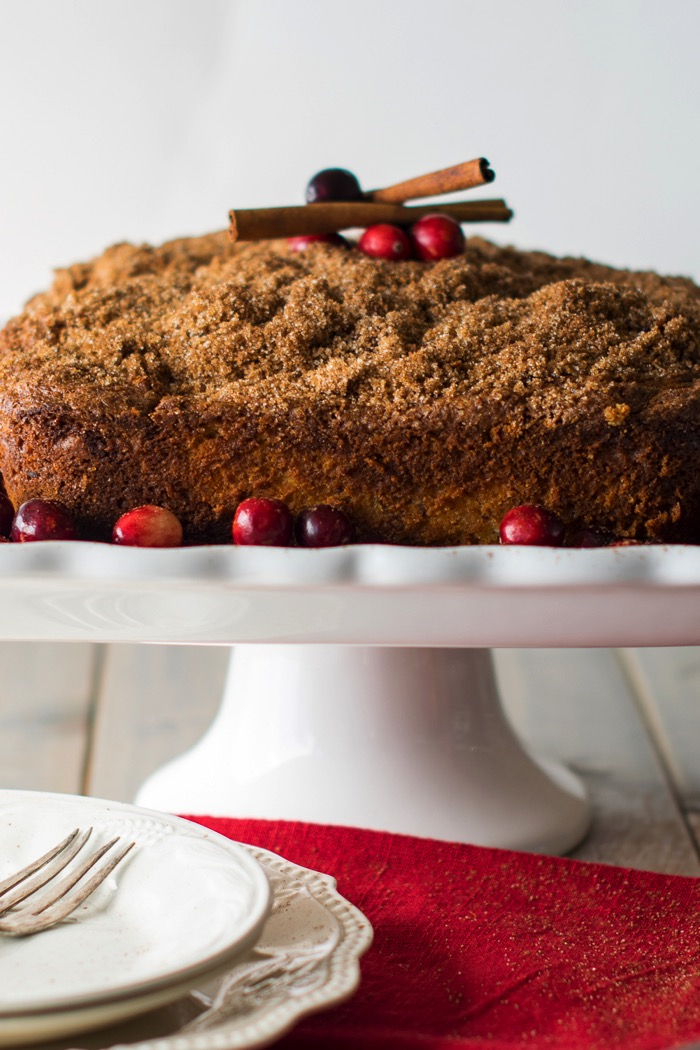 Christmas Cranberry coffee cake