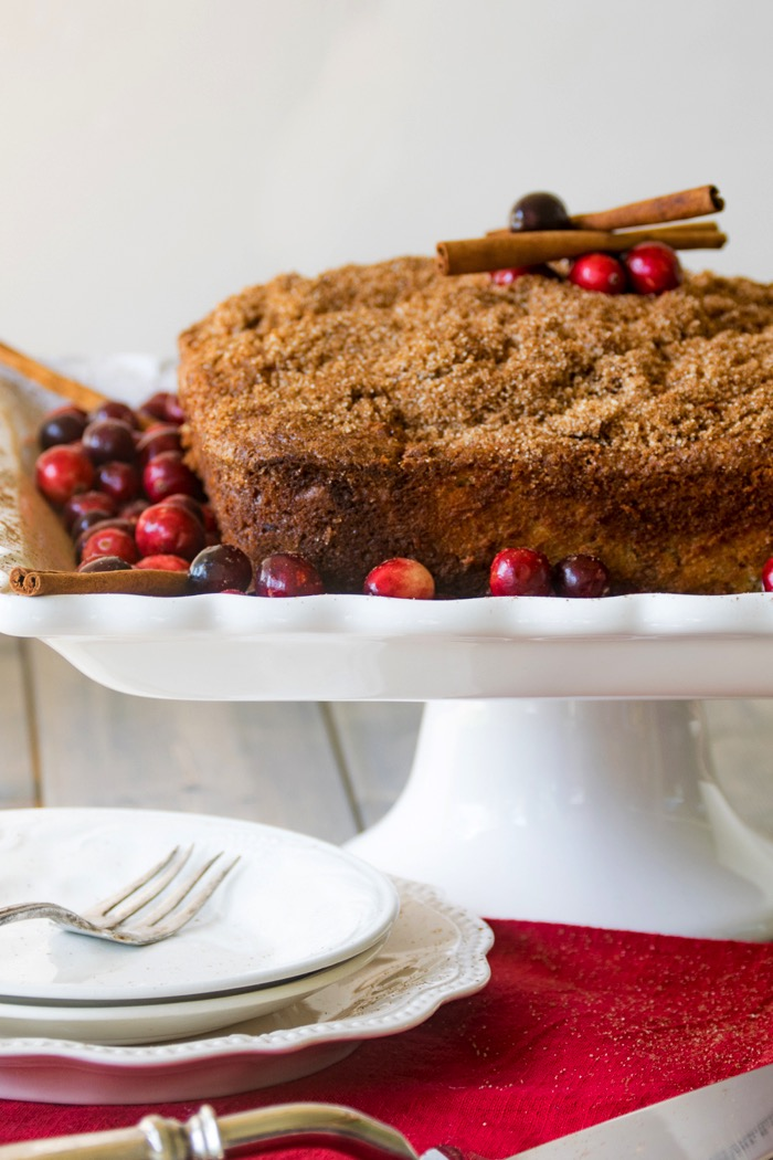 Cream cheese coffee cake recipe with cranberries