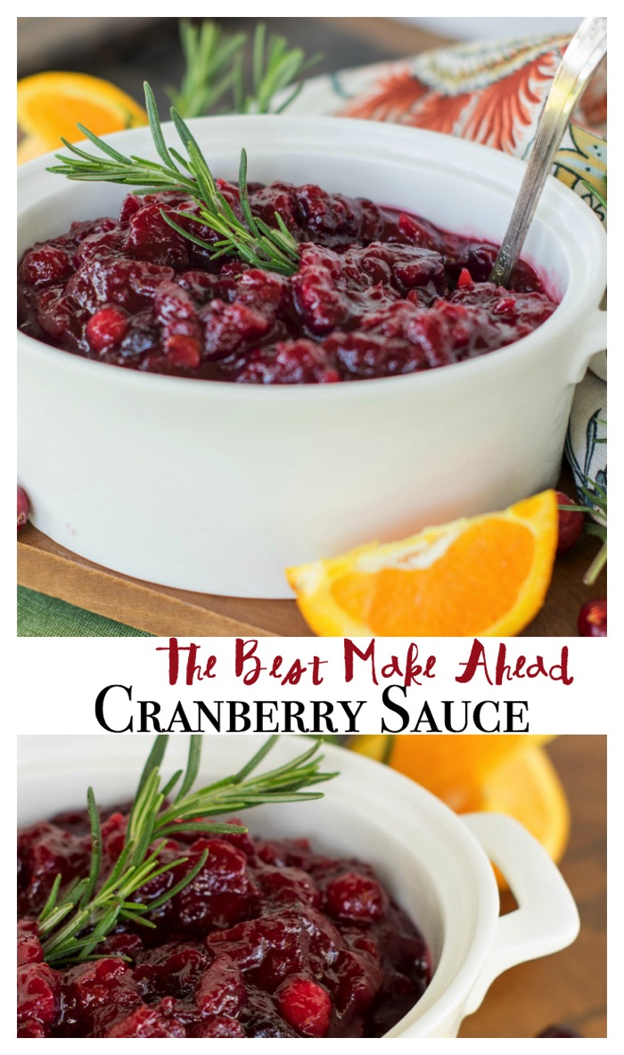 The best make ahead cranberry sauce