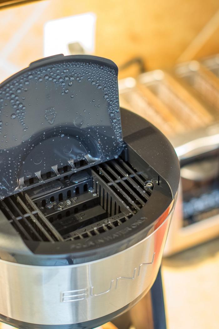 add water to BUNN coffee pot