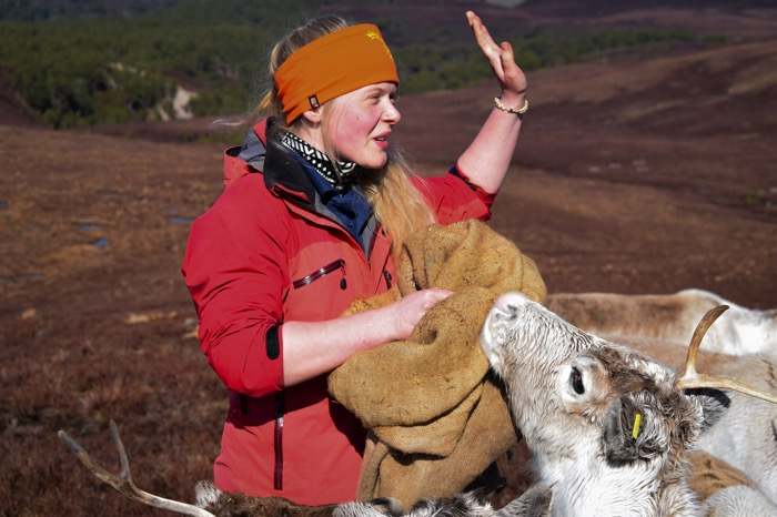 Tour guides with the Cairngorm Reindeer Center