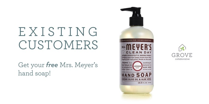 2017 New Year New Start Mrs. Meyers's Cleaning Bundle from Grove Collaborative.