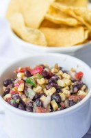 3 Pepper Black Bean and Roasted Corn Salsa