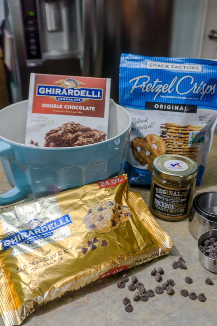 Peanut Butter Pretzel Brownies 5