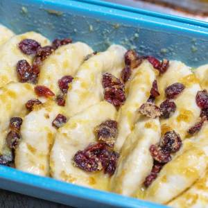 Cranberry orange bread before cooking