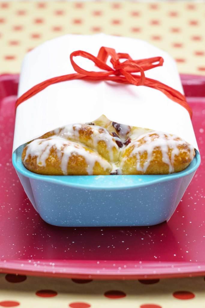 Gifting pull apart cranberry orange bread
