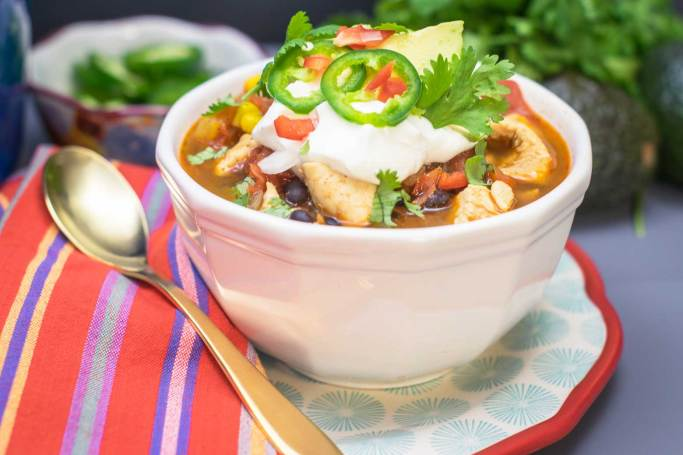 This chicken chili recipe is packed with protein and veggies