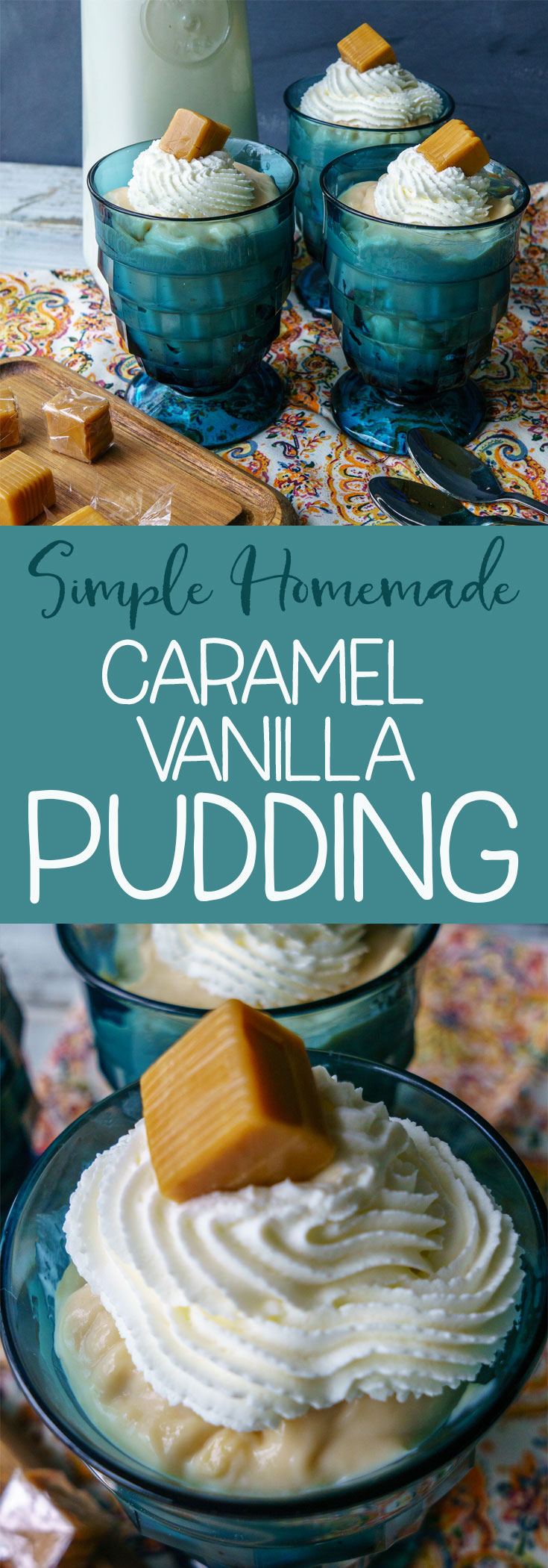 Forget the box! Make yours from scratch just as easily! You'll flip for this easy to make caramel vanilla pudding cooked right on your stovetop!  #KnowYourMilk  #pudding #homemade desserts via @mrsmajorhoff