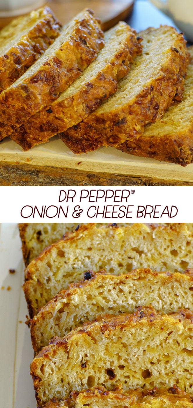Dr Pepper onion and cheese bread! @DrPepper #ad #homegatingchamp #bread #quickbread #savory #rusticbread