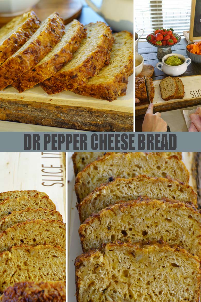 Dr Pepper Cheese Bread slices