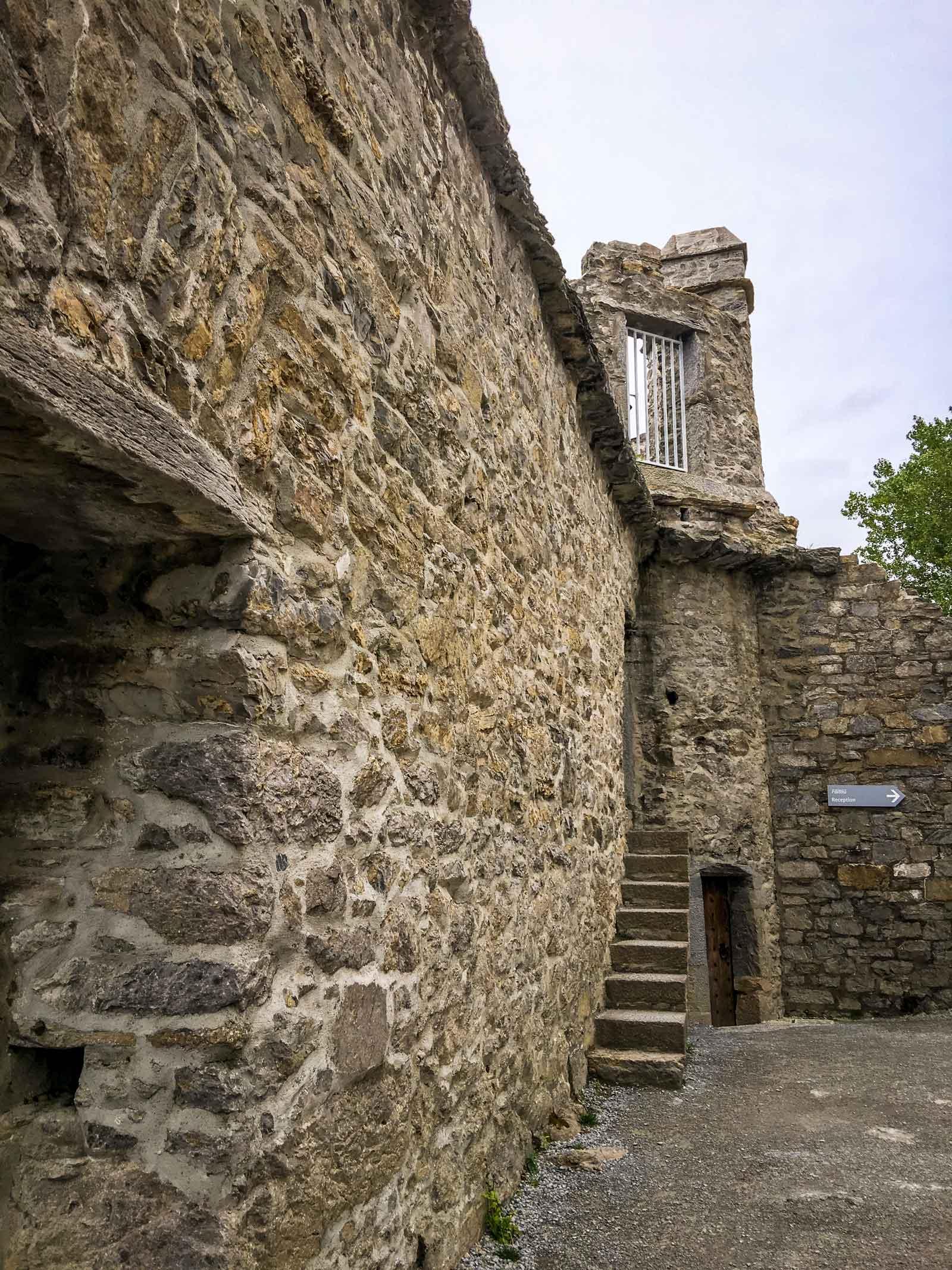 Inside Ross castle in County Kerry