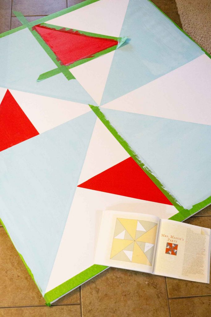 Using frog tape on a do it yourself canvas frame