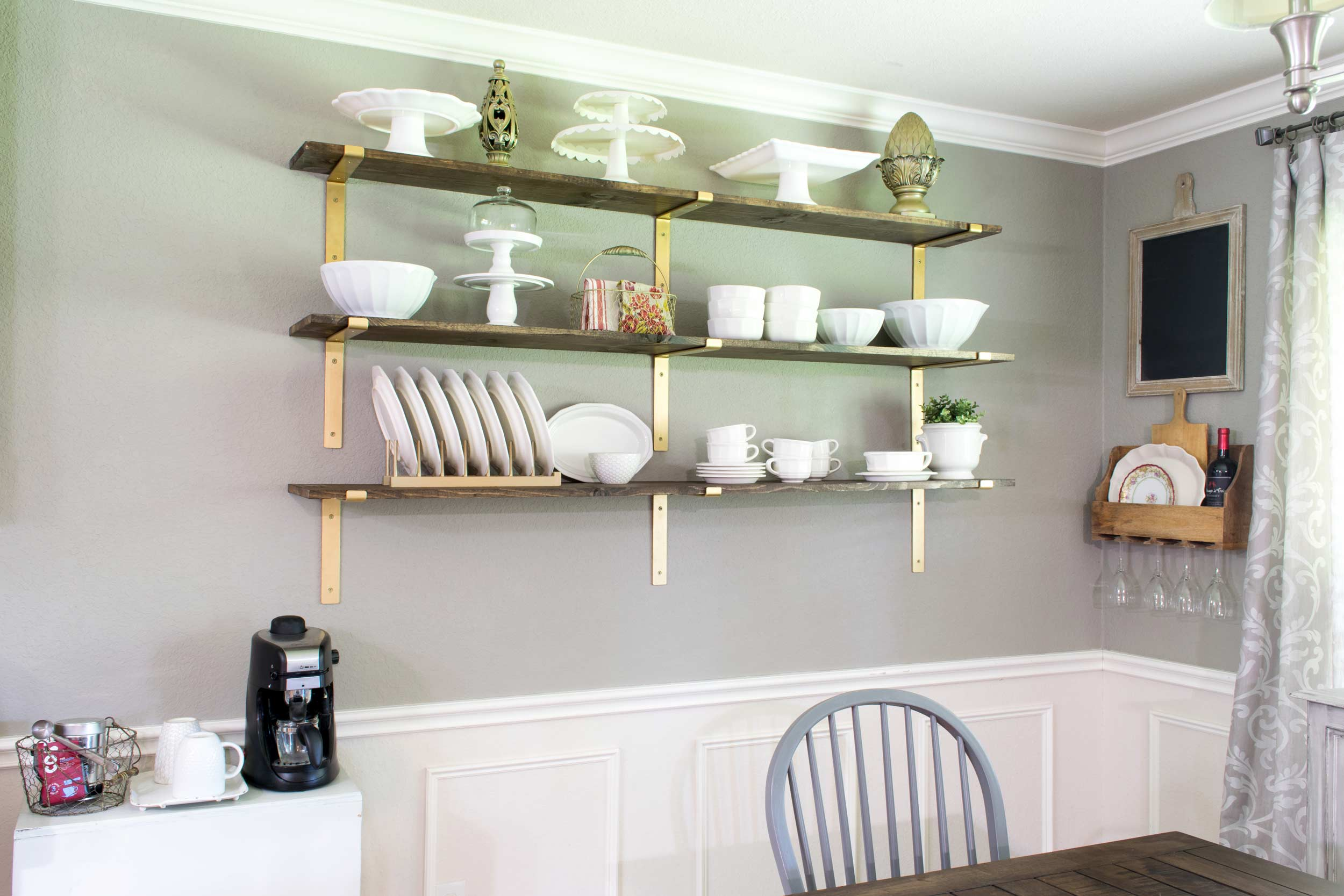 Dining Room Shelves for Dish Display - Major Hoff Takes A ...
