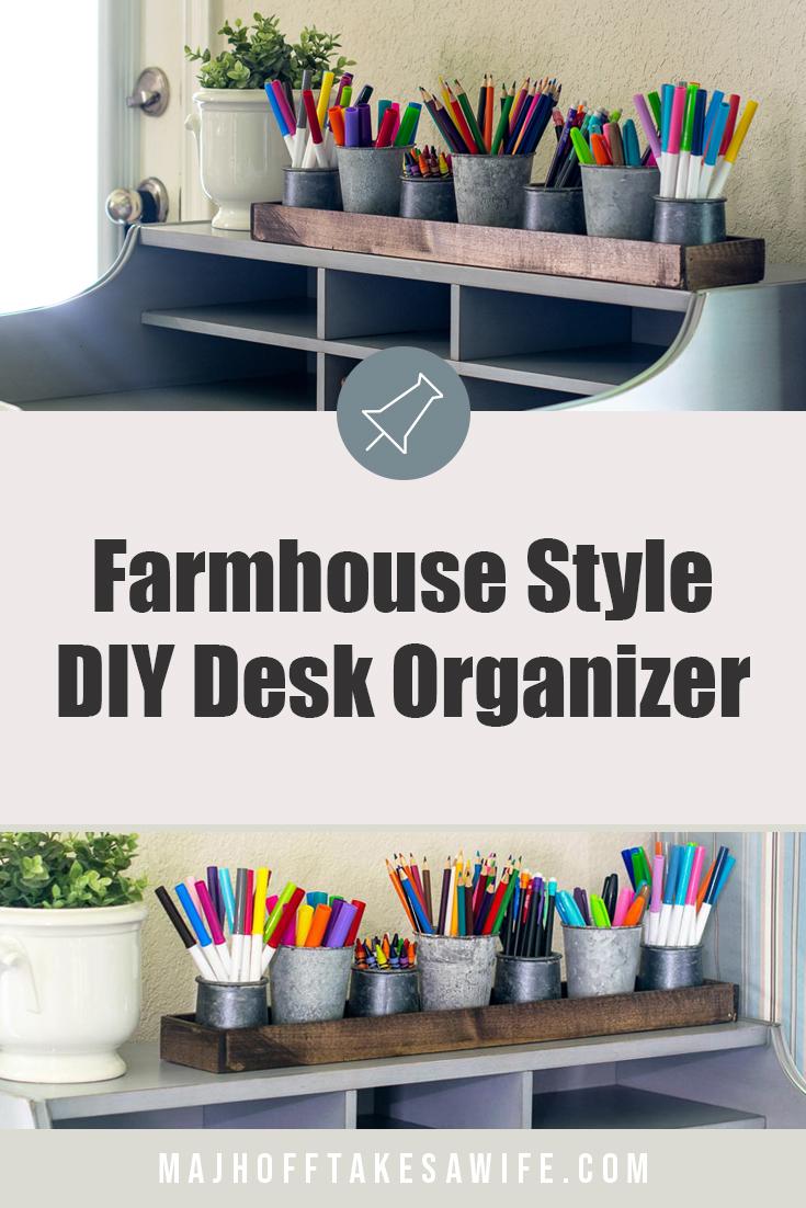 Easy to make farmhouse style DIY organizer