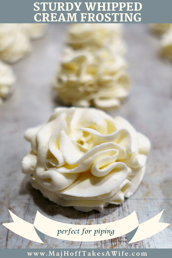 Sturdy whipped cream frosting flowers pin