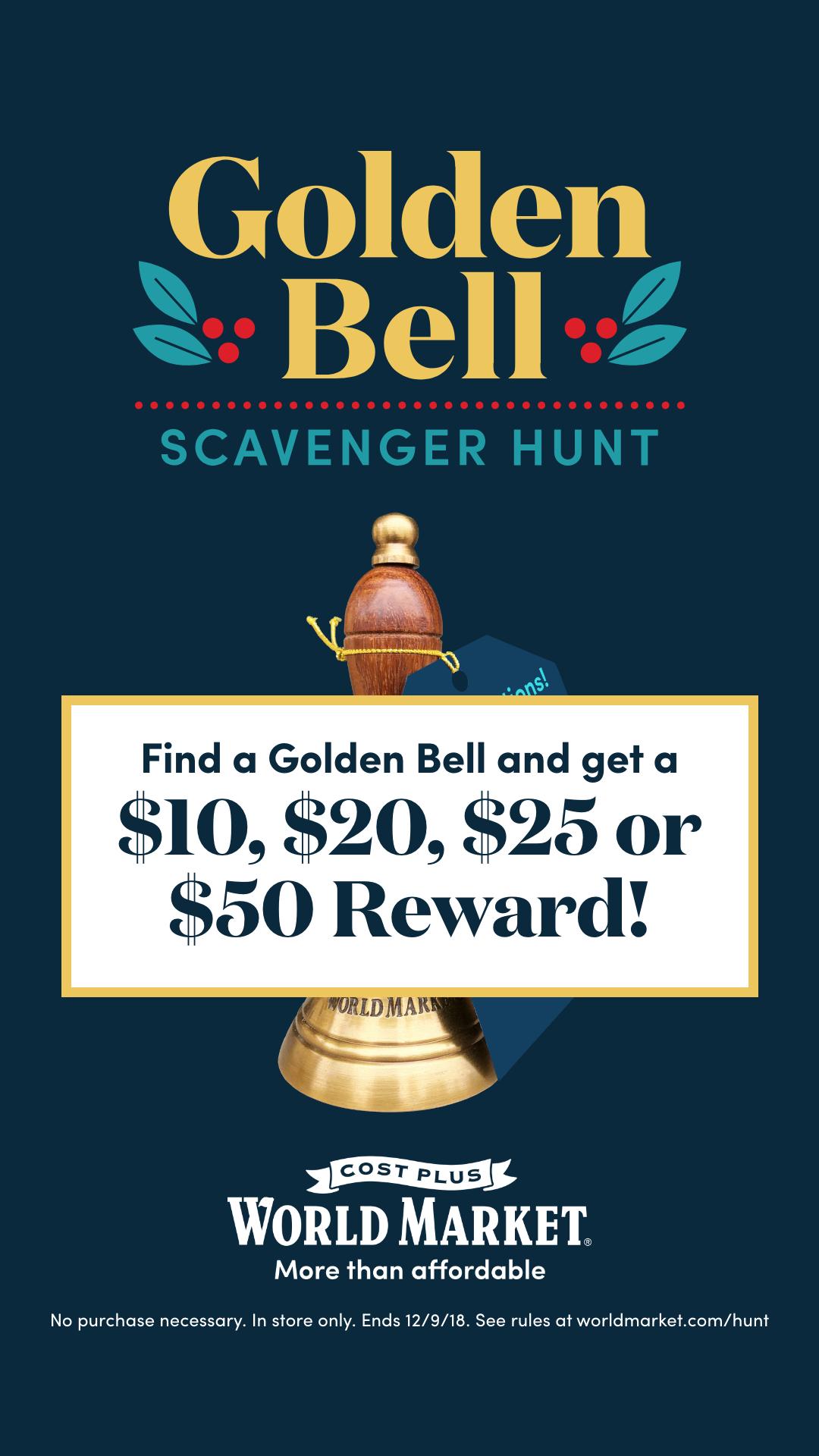 Golden Bell at World Market Holiday 2018