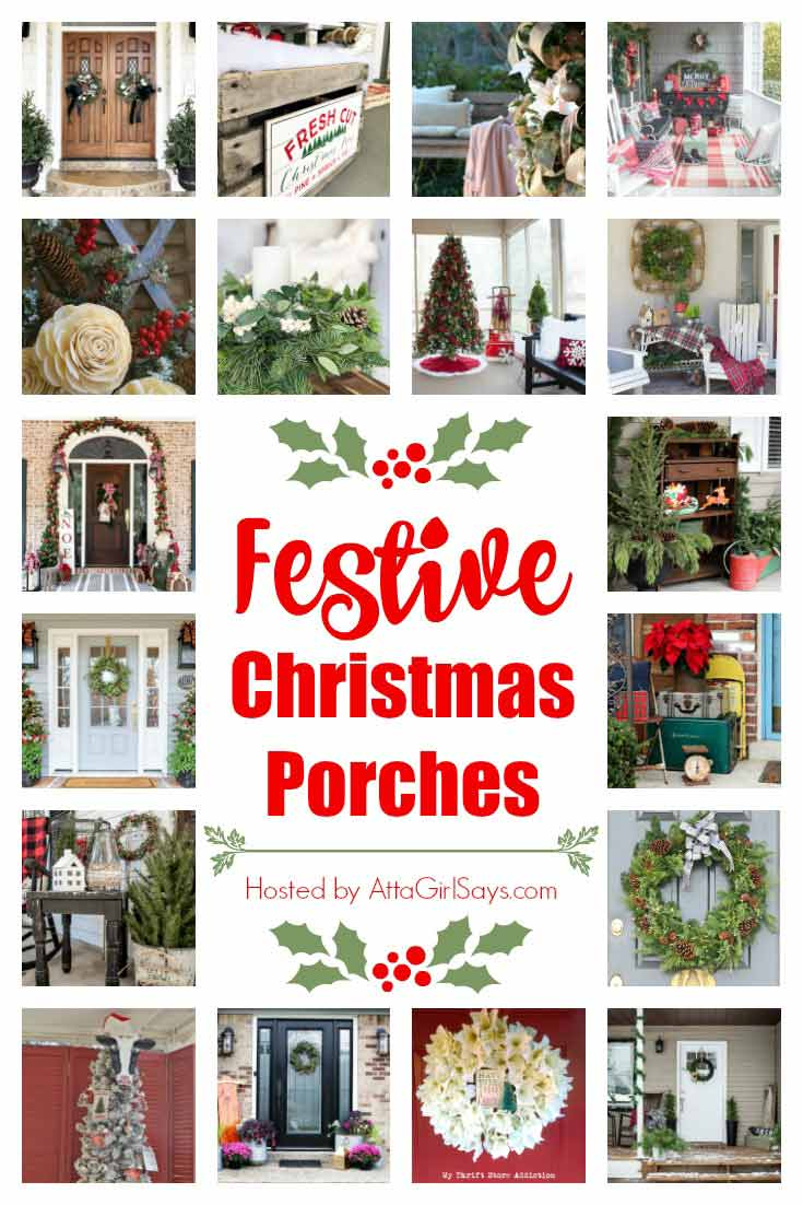 Festive Christmas Porches for 2018! Loads of holiday ideas for decor and more!