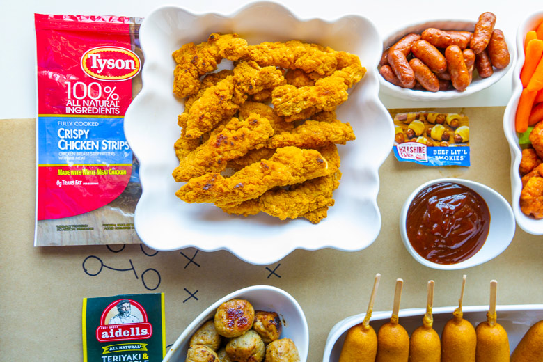 Tyson brand products for a big game party