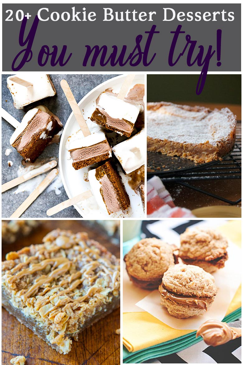 Dessert recipe collection featuring cookie butter.