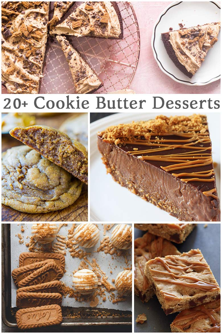 A collection of recipes for your favorite cookie butter treats and desserts. Whether it's Trader Joes, Biscoff or another brand, you'll find easy recipes kids and families with love! via @mrsmajorhoff