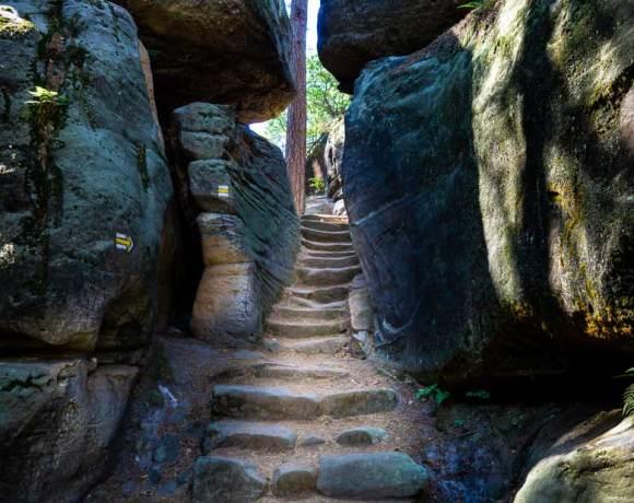 a rock stairway in Cseski Raj