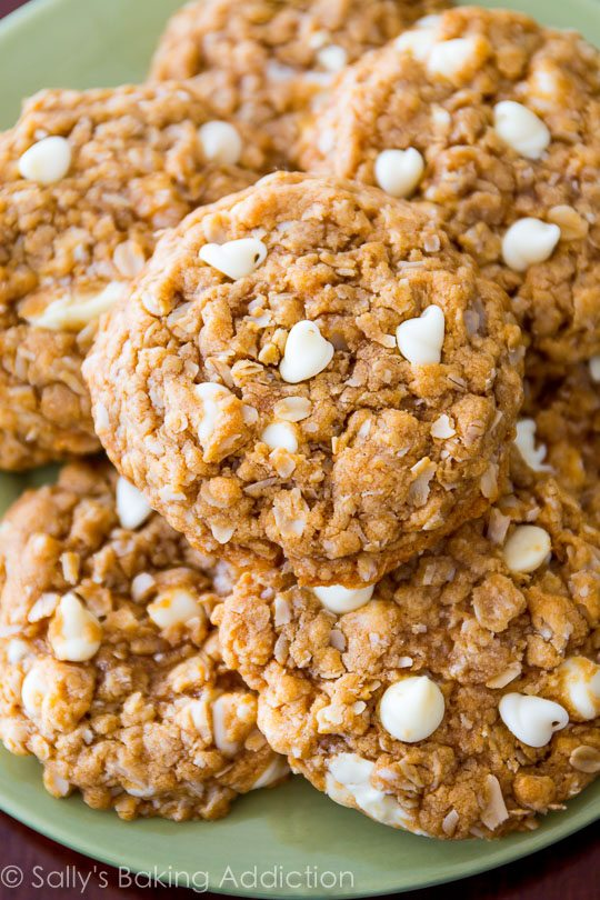 Biscoff White Chocolate Oatmeal Cookies