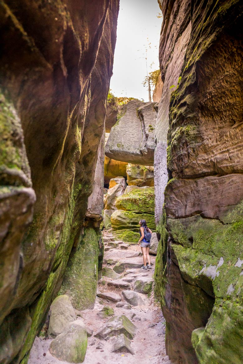 Czeski Raj, Český ráj and Bohemian Paradise are all the same geopark located in the Czech Republic. A perfect spot for a hike, for castle viewing, and stunning countryside views of the Czechia countryside! A perfect day trip from Prague! via @mrsmajorhoff