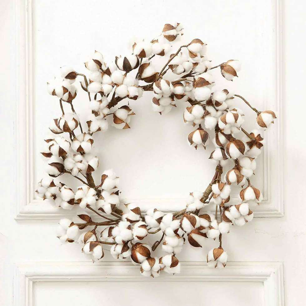 cotton wreath on amazon