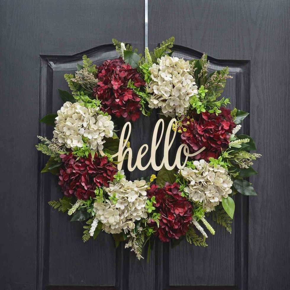 hydrangea wreath on amazon