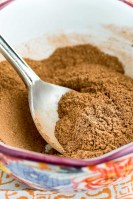 close up shot of pumpkin pie spice mixture in a bowl