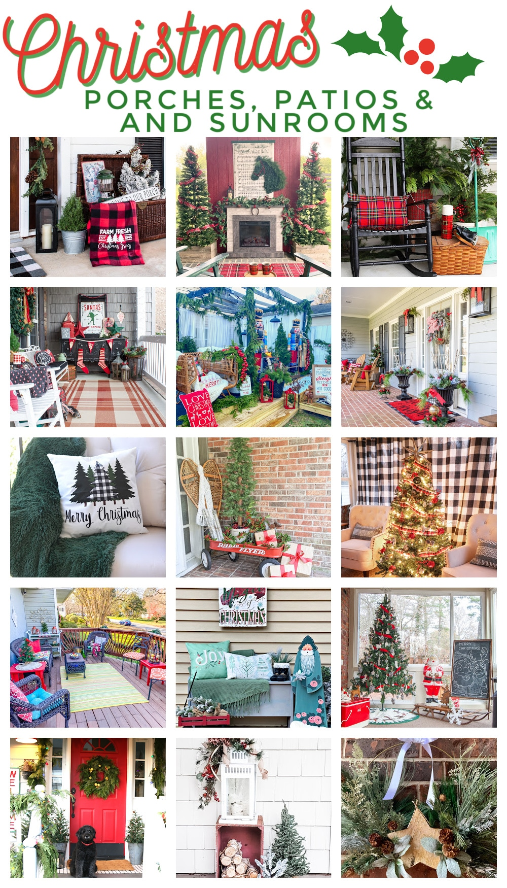Christmas porches patios and sunrooms!
