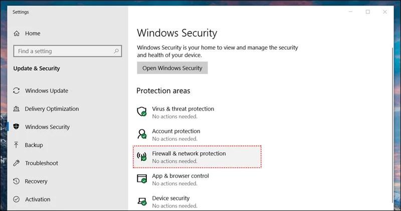 4 طرق تمكنك من إيقاف جدار حماية ويندوز 10 Windows Firewall