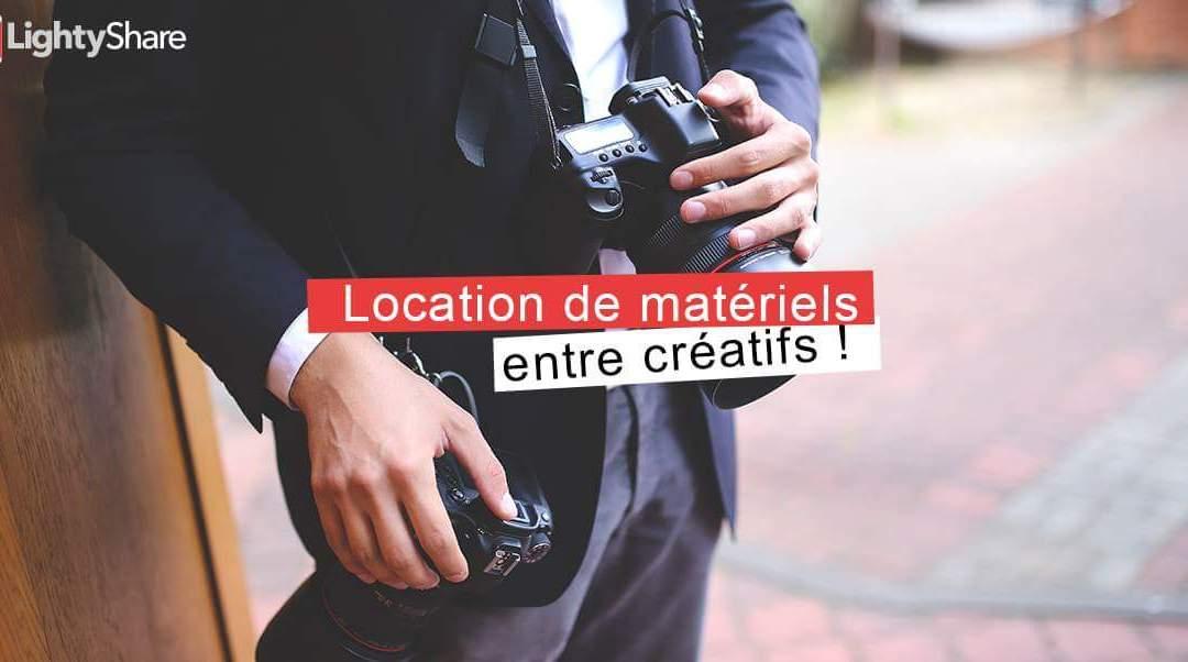 Lightyshare, Le service de location entre créatifs